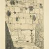 Wailing-place of the Jews. A portion of the ancient wall of the temple enclosure.
