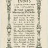 British Legion Memorial Parade.