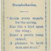 Steeplechasing.