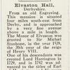 Elvaston Hall, Derbyshire.