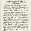 Tissington Hall, Derbyshire.