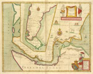A new mapp of MAGELLAN STRAIGHTS discovered by Capt. John Narbourgh commander then of His Majesty's Ship Sweepstakes as he sayled through sade straights.