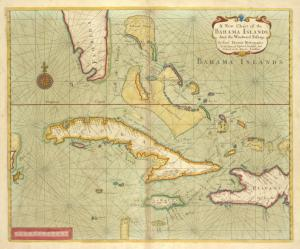A new chart of the BAHAMA ISLANDS and the Windward Passage