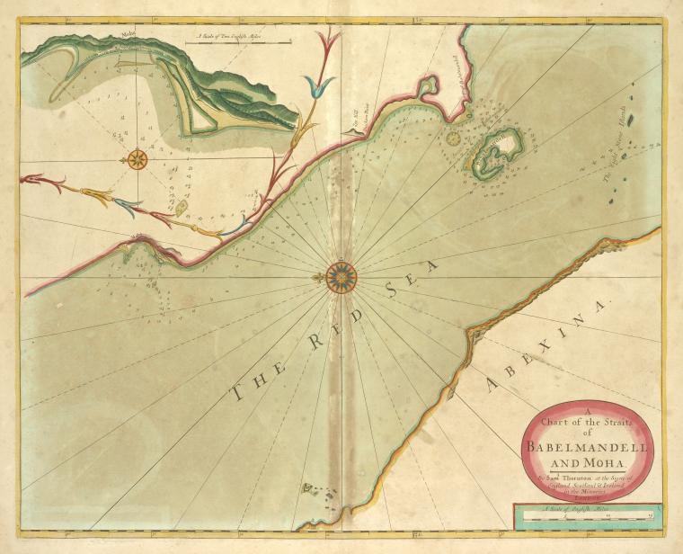 A chart of the straits of BABELMANDELL and MOHA