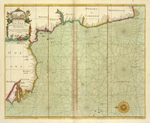 A chart of the coast of GUINEA from cape de Verd to cape Bona Esperanca