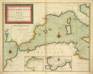 A new chart of the coast of the MEDITERRANEAN SEA ; Livorn or Legorne ; The Bay of Tunis.