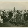 Mrs. F.G. Sanborn, President of the Woman's Board of the Panama-Pacific International Exposition, delivering an address on the occassion of tree planting ceremonies held on the Exposition site, San Francisco, under the auspices of the General Federation of Women's Clubs