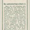 Reuholstering a chair. 2.