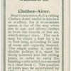 Clothes airer.