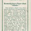 """Remedying a door that """"binds""""."""