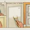 Enamelling a door.