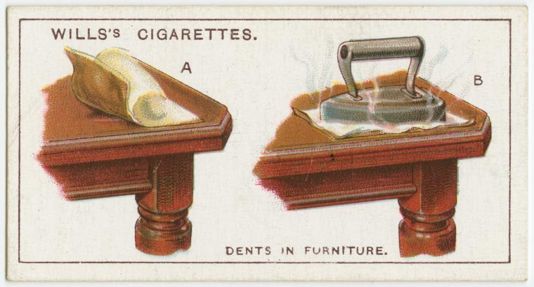 Dents in furniture.