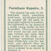 Furniture repairs. 2.