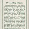 Protecting pipes.