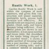 Rustic work 1.