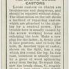 Replacing loose castors.