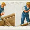 Making a concrete wall.