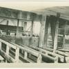 Interior view of old wooden building in Tappan, N.Y.]