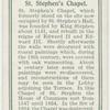 St. Stephen's Chapel.
