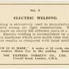 Electric welding.