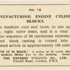 Manufacturing engine cylinder blocks.