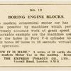 Boring engine blocks.