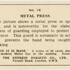 Metal press.