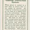 """""""Autovac"""" petrol feed system."""