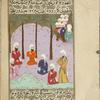 Mukhayriq in discussion with five of his Jewish confederates proclaims his decision to help Muhammad in his wars.