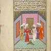 Quzmân the hypocrite, dressed only in his underdrawers, mutilates himself by sticking an arrow though his upper arm.