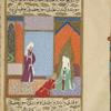 Abû Hishâm of Medina kisses the hand of the Prophet.
