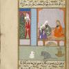 Abû Hishâm, sitting with two friends in an eyvân, tells them that he has become a Muslim.