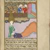 'Abbâs, the servant of the brothers 'Utbah and Shaybah of the clan of 'Abd Shams, kisses the feet of Muhammad in recognition of his prophethood.