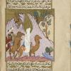 Muhammad, followed by Abû Bakr and 'Alî, goes to ask support of his uncle 'Abbâs at the 'Ukâz Fair and to invite the people to Islam.