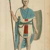 Soldat de la IVe cohorte dal mate bas-relief du Musée D'Artillerie. Dessin inédit.