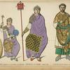 Arcadius associe a l'empire, et son pere Theodose Le Grand, annee 393. Flavius Felix consul, annee 428.