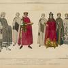 L'Empereur Justinien, L'Imp[eratrice] Théodora, leur suite, autre personnage: D'aprés les mosaiques de 540, a St. Vital de Ravenne, déssins inédits