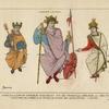 Charles le Chauve empereur d'Occident, Roi des Francs, de Lorraine, etc. 860-75. Miniatures de la Bible de ce Prince, au Musee des Souverains. (Louvre.)
