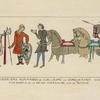 Guerriers Normands de Guillaume le Conquerant 1066. Tapisserie de la Reine Mathilde, dite de Bayeux.