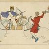 Chefs Francais 2me moite du XIme siecle, pintures de manuscrits du temps, Bibliot[hèque] Imp[ériale.]