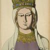 Reine de France, XIIe siècle, bas relief inedit, du Musée de Cluny.