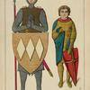 Brocard de Charpignie, chevalier--guerrier 1200-1220. (Tombe de Musée de Cluny. Chasse de St. Potentien. Musée du Louvre.) Dessins inédits.
