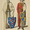 Conrad de Thuringe, landgrave de Hesse, Ernest Comte de Gleichen, chevalier de l'Ordre Teutonique. 1241. Chevalier cróise. 1227-64. Tombes de Marbourg, et Erfurt.