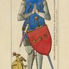 Pierre de Chantemelle, chevalier Francais: siegneur de Flavacourt 1352. Tombeau de Musée de Cluny dessin inédit.