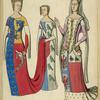 Anne dauphin d'Auvergne, comtesse du Forez, et la dame de Nedouchel 1370-80. Jacqueline de lagrange femme de Jean de Montague, gd. Maitre de France 1409.