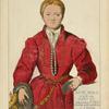 Dame noble de Venise 1540-50. Tableau de Titien. Galerie du Belvedère a Vienne. Dessin inedit de J. Lasso.