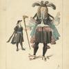 Gentilhomme et jeune élégant, 1670.  (De l'oeuvre des Mitelli.) XVIIe siècle, costumes civils, hommes, Italie.