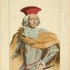 Francois Morosini dit le Péloponésiaque, capitaine général des flottes de Venise. D'après une gravure du temps. XVIIe siècle, costumes militaires, marine, Italie.