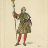 Garde de la porte du roi Louis XV, dite de la manche. D'après une gravure de Chevilet.