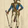 Tambour-major des chasseurs a pied, de la garde des consuls. 1802-04. Gravure du temps.